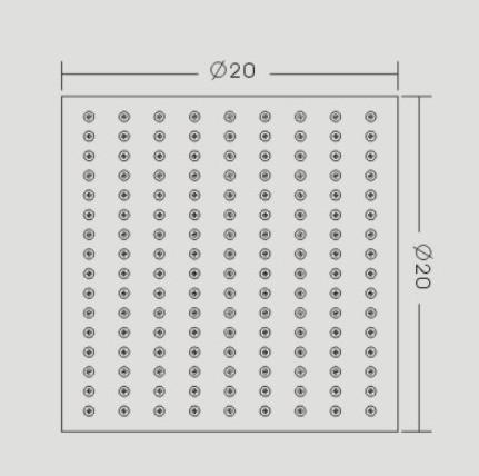 Handdouche regeneffect DPG2023 - extra plat - 20 x 20 cm - verchroomd – Bild 3