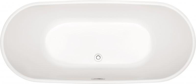 Freistehende Badewanne LUGANO Acryl weiß OMS-771 170x74 inkl. Ab-/Überlauf inkl. Armatur 8028 – Bild 5