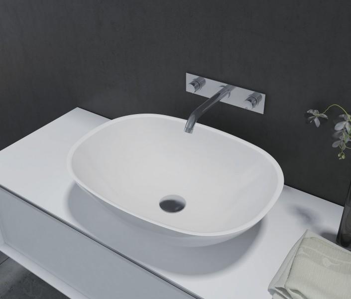 Aufsatzbecken Aufsatz-Waschbecken oval PB2202 - 55 x 40 x 15 cm – Bild 1
