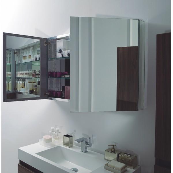 Ensemble de salle de bain A-1000 BASIC, armoire de toilette, vasque et meuble sous vasque, blanc – Bild 5