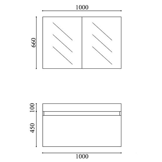 Badmöbel-Set A1000 Basic Weiß inkl. Spiegelschrank – Bild 6