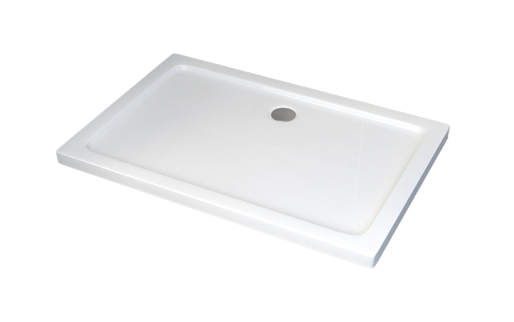 Rectangular shower tray - 120 x 90 cm - including waste fittings  – Bild 1