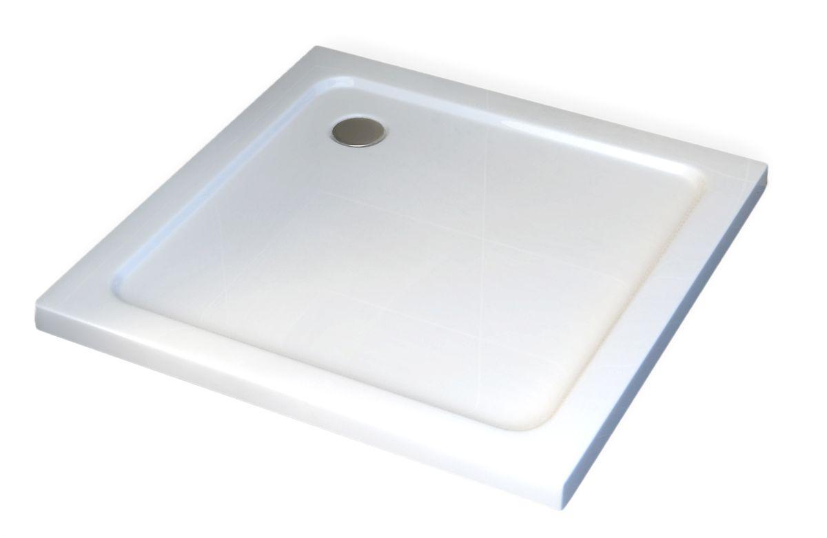 Duschtasse Duschwanne quadratisch - 90 x 90 cm inkl. Ablaufgarnitur – Bild 4
