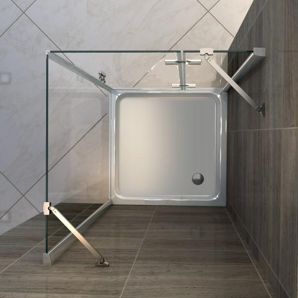 Duschtasse Duschwanne quadratisch - 90 x 90 cm inkl. Ablaufgarnitur – Bild 2