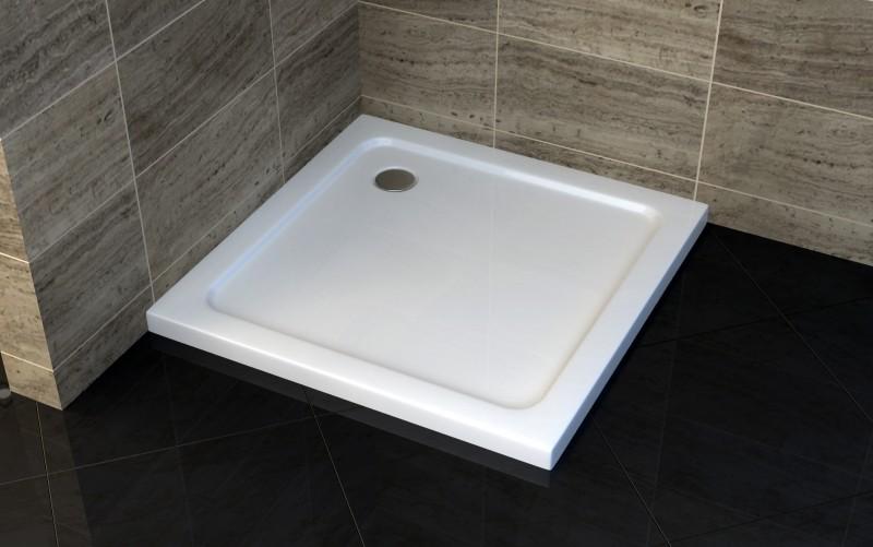 Duschtasse Duschwanne quadratisch - 100 x 100 cm inkl. Ablaufgarnitur – Bild 1