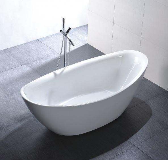 Freistehende Badewanne Acryl BELLAGIO weiß - 180 x 86 cm – Bild 3