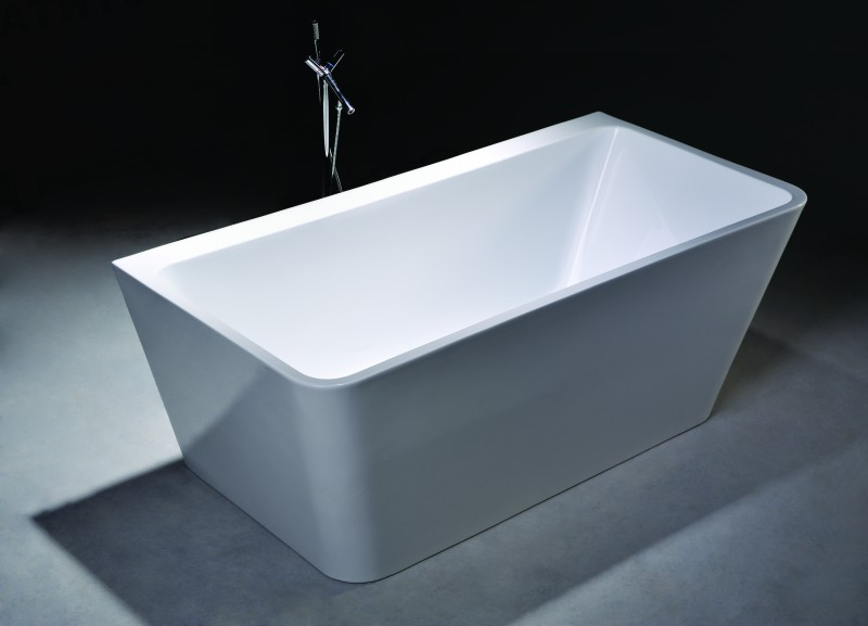 Freestanding Bathtub VENEZIA white - 170x80cm - made of sanitary acrylic – Bild 3