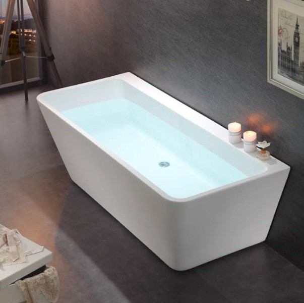Freestanding Bathtub VENEZIA white - 170x80cm - made of sanitary acrylic – Bild 1