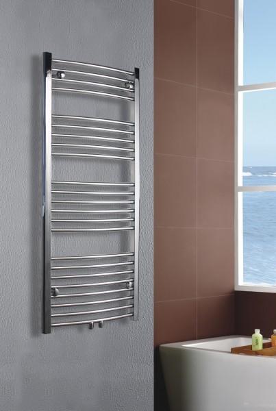 Badheizkörper Handtuchwärmer Chrom gebogen - R20C Badewelt ...