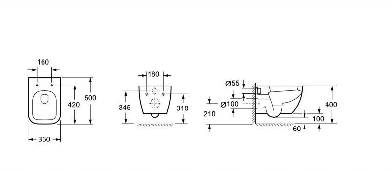 Series toilet CH101- bidet BH101 - faucet 1238C – Bild 4