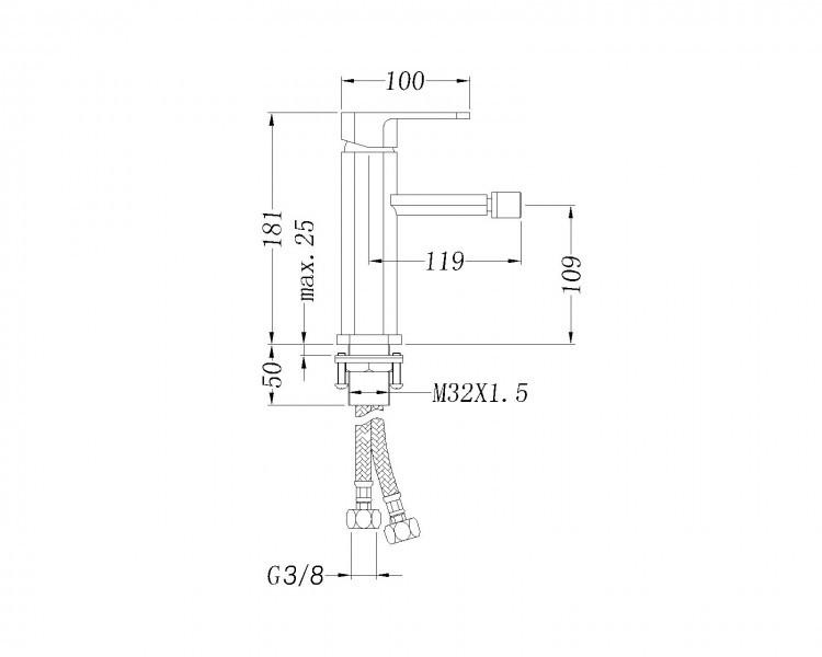Series toilet CH101- bidet BH101 - faucet 1238C – Bild 11