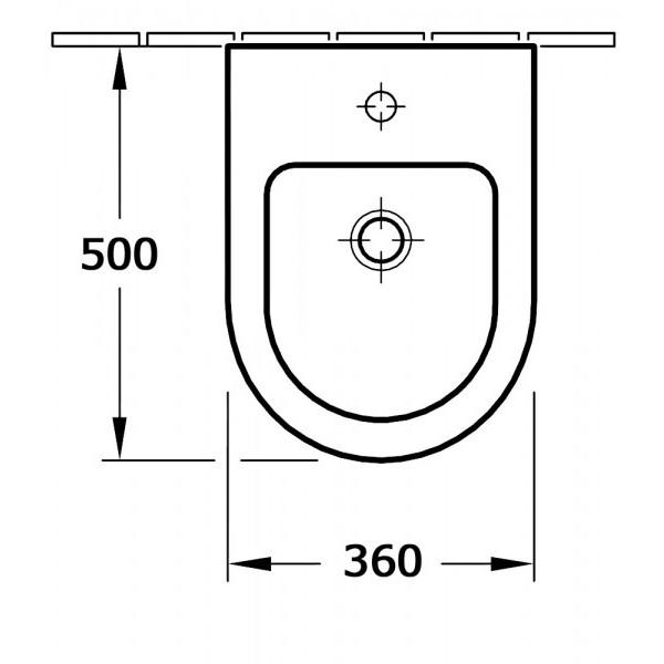 Series toilet CH101- bidet BH101 - faucet 1238C – Bild 6