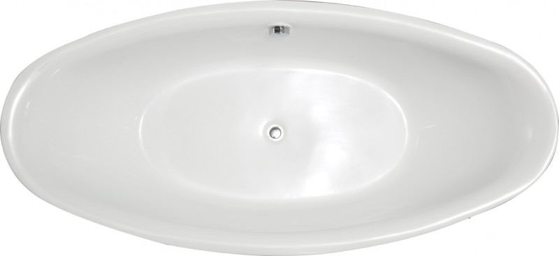 Freestanding Bathtub BELLAGIO white - 180x86cm - incl. tap 8028   – Bild 5