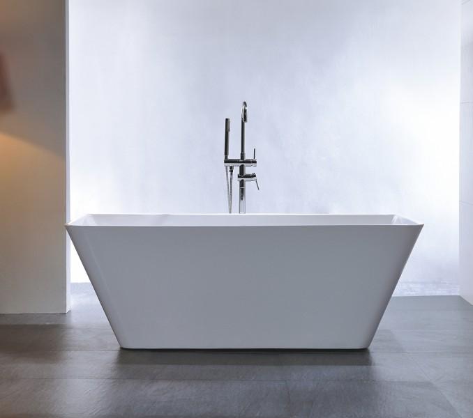 Freistehende Badewanne Acryl VENEZIA weiß - 170 x 80 cm inkl. Standarmatur 8028 – Bild 1