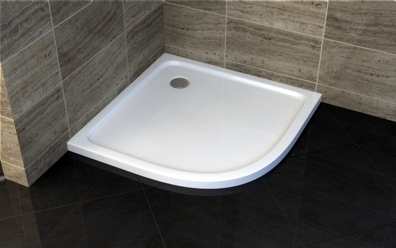 Quarter circle shower cabin EX406 - 8mm safety NANO Glass - 90 x 90 x 195cm - shower tray included – Bild 7