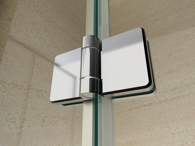 Shower cabin corner entrance EX213 - trap door - 8 mm Real NANO Glass - 100 x 100 x 195cm + shower tray – Bild 4