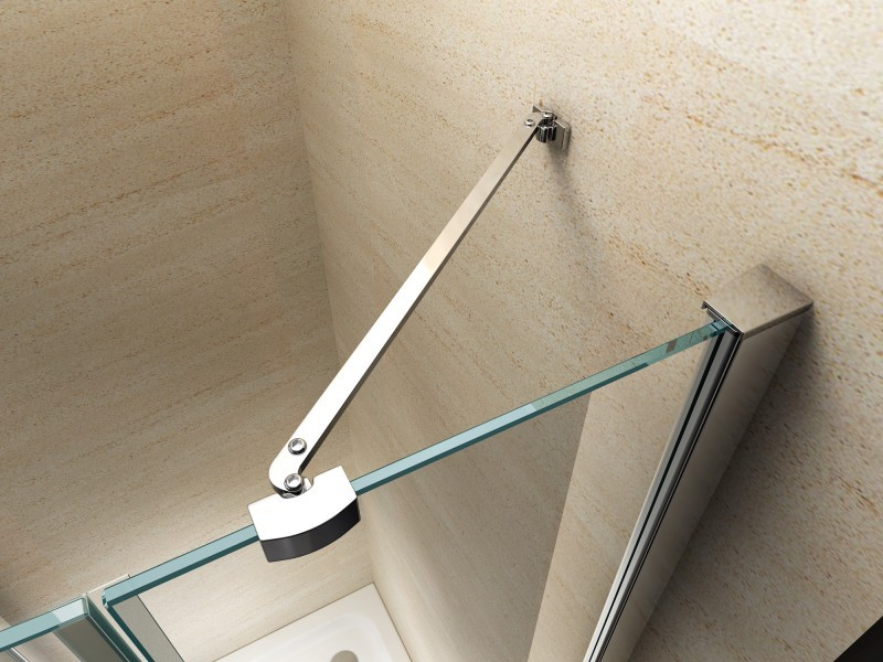 Shower enclosure, corner shower cubicle, NANO + shower tray EX403, 100x100x195cm – Bild 2
