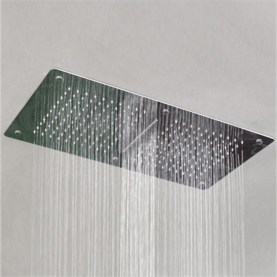 XXL rain shower SUPER FLAT stainless steel shower head DPG5019 - ceiling installation – Bild 2