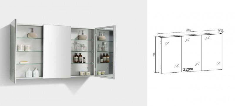 Badmöbelset R1200 Anthrazit - Spiegel und Hängeschrank optional – Bild 7