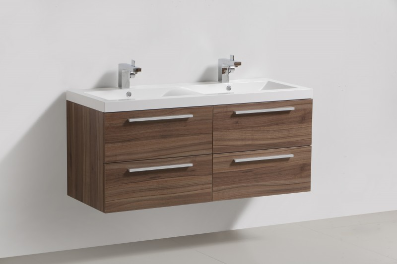 Bathroom furniture set R1200, dark walnut - Mirror, mirror cabinet and wall-mounted cabinet optional – Bild 2