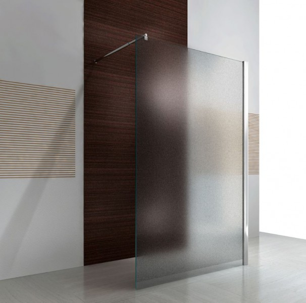 Walk-in shower enclosure EX101 - 10 mm NANO genuine glass - satin glass - selectable width