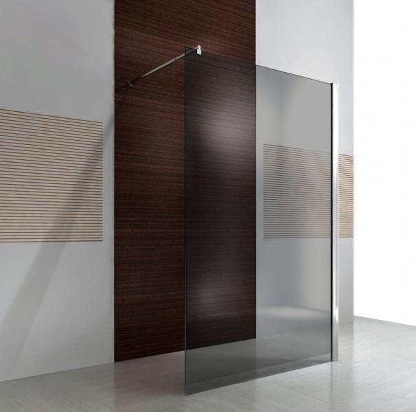duschabtrennung walk in nano echtglas ex101 graues glas breite w hlbar badewelt duschkabine. Black Bedroom Furniture Sets. Home Design Ideas
