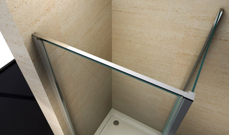Corner shower cabin EX416 - corner entrance - 8mm genuine safety NANO Glass - 90 x 90 x 195cm - shower tray included – Bild 2