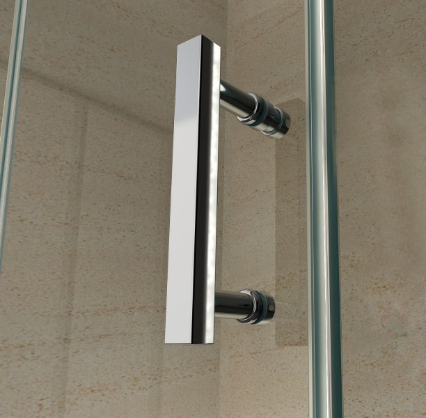 Corner shower cabin EX416 - corner entrance - 8mm genuine safety NANO Glass - 90 x 90 x 195cm - shower tray included – Bild 3