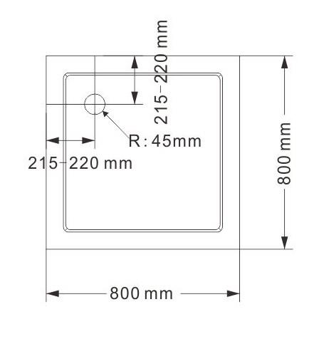 Paroi de douche d'angle EX416 - en verre véritable NANO - 80 x 80 x 195cm - avec receveur – Bild 8