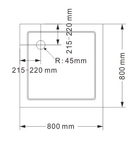 Mampara de ducha de esquina EX416 - de cristal auténtico NANO - 80 x 80 x 195 cm - con plato – Bild 8