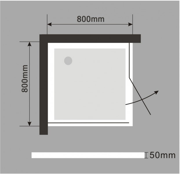 Mampara de ducha de esquina EX416 - de cristal auténtico NANO - 80 x 80 x 195 cm - con plato – Bild 7