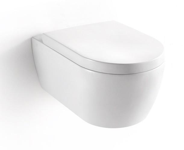 BERNSTEIN Design Wand-Hänge WC Toilette Nano inkl. Softclose Deckel NT2019 – Bild 1