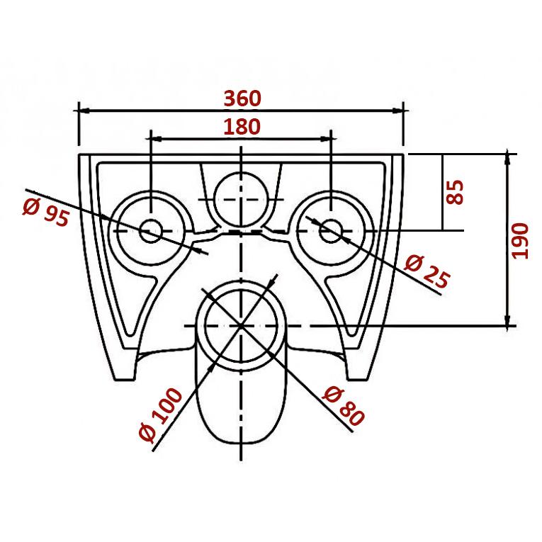 BERNSTEIN Design Wand-Hänge WC Toilette Nano inkl. Softclose Deckel NT2019 – Bild 2