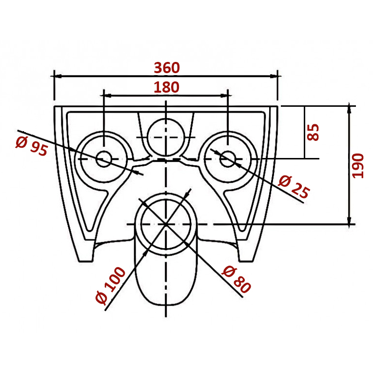 HUNG WC SET - NANO - basin  + soft close seat  NT2019 – Bild 2
