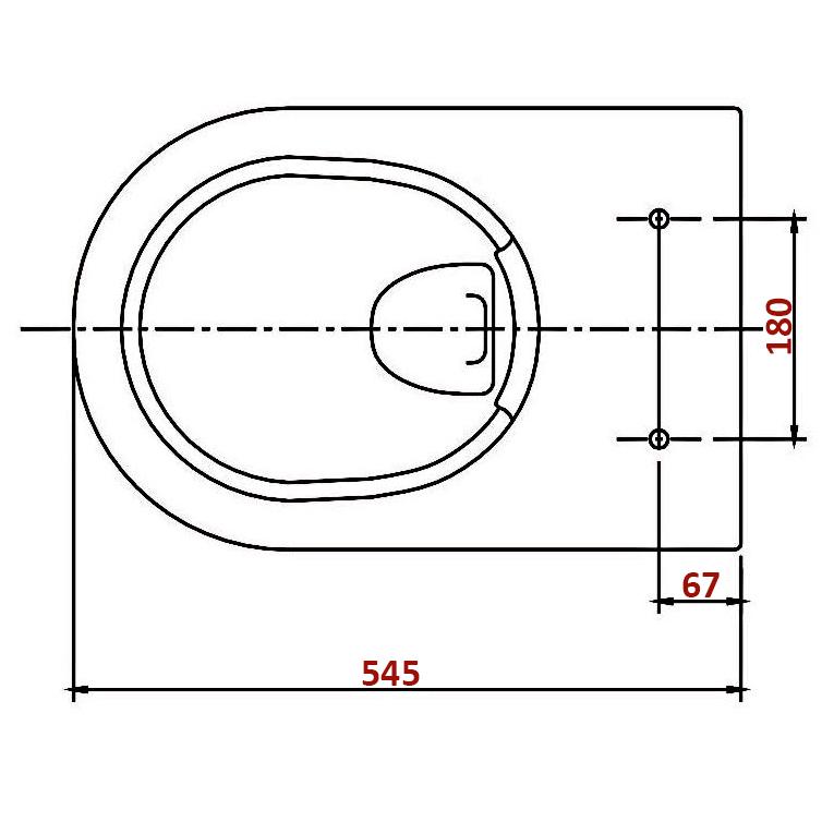 BERNSTEIN Design Wand-Hänge WC Toilette Nano inkl. Softclose Deckel NT2019 – Bild 4