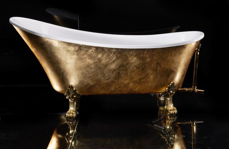 Vasca Da Bagno Con Piedini Dimensioni : Vasca da bagno con piedini paris premium oro 175 x 74 cm boutique