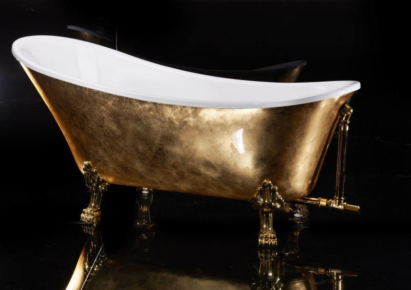 Freestanding Bathtub PARIS PREMIUM GOLD - 175 x 74 cm – Bild 2