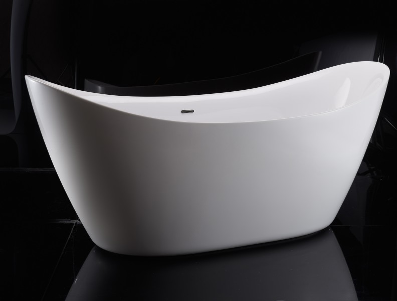 Freestanding Bathtub SIENA, glossy white, 173 x 73cm - without taps  – Bild 2