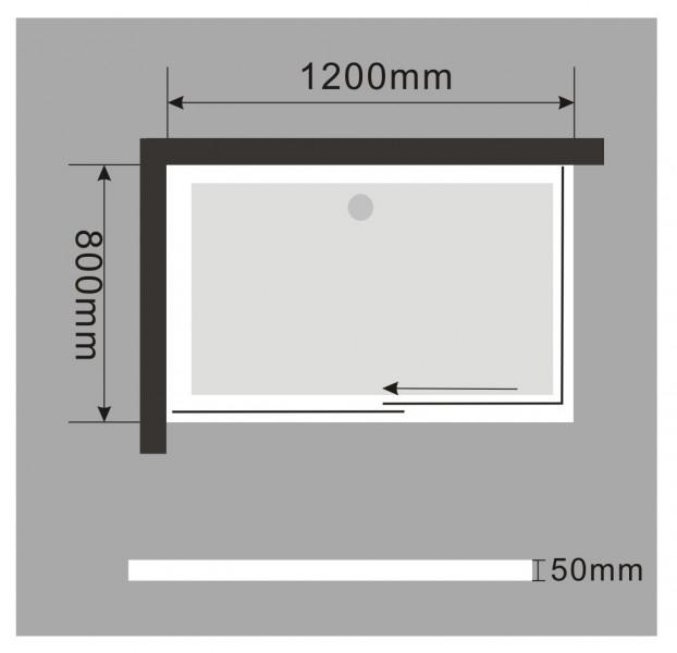 Duschkabine Duschabtrennung mit Schiebetür NANO 8mm Echtglas EX802 - 120x80x195cm - inkl. Duschtasse – Bild 8