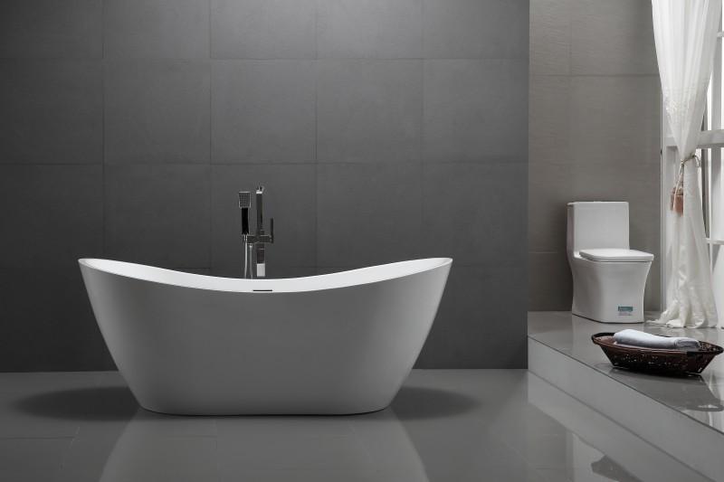 Freistehende Badewanne Acryl VIENA weiß - 180 x 80 cm – Bild 1