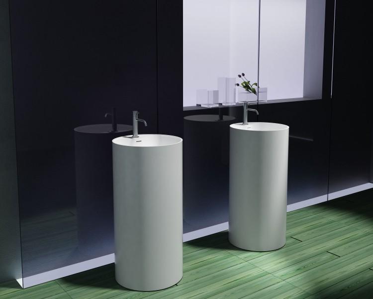 Lavabo colonne totem PB2021 - Ø45 x 90cm - blanc - Solid ...