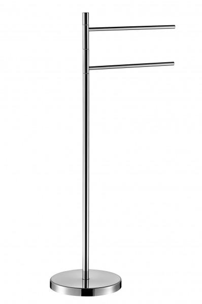 Hochwertiger Handtuchständer 8037 mit 2 Armen Design rund - Serie 1200 – Bild 1