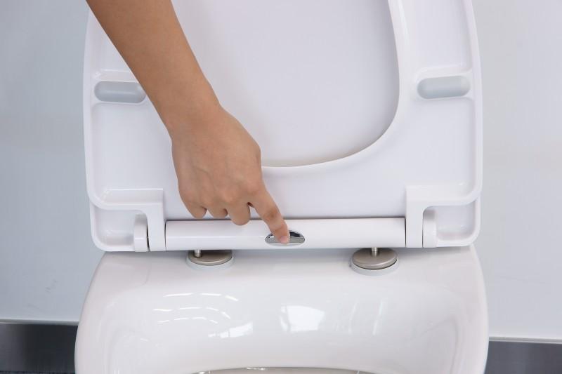 WC-Deckel Softclose WC-Sitz Ersatzdeckel U1004 - passend für Standard-WCs – Bild 5