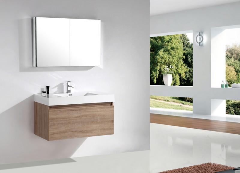 Ensemble de salle de bain A1000 couleur chêne clair   armoire de