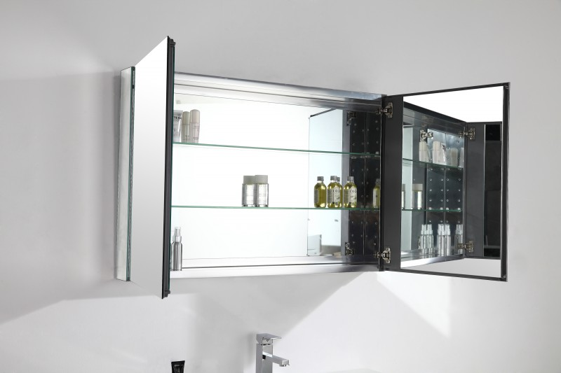 Bathroom furniture set A1000 - bleached oak colour - mirror cabinet and wall-mounted cabinet optional – Bild 7