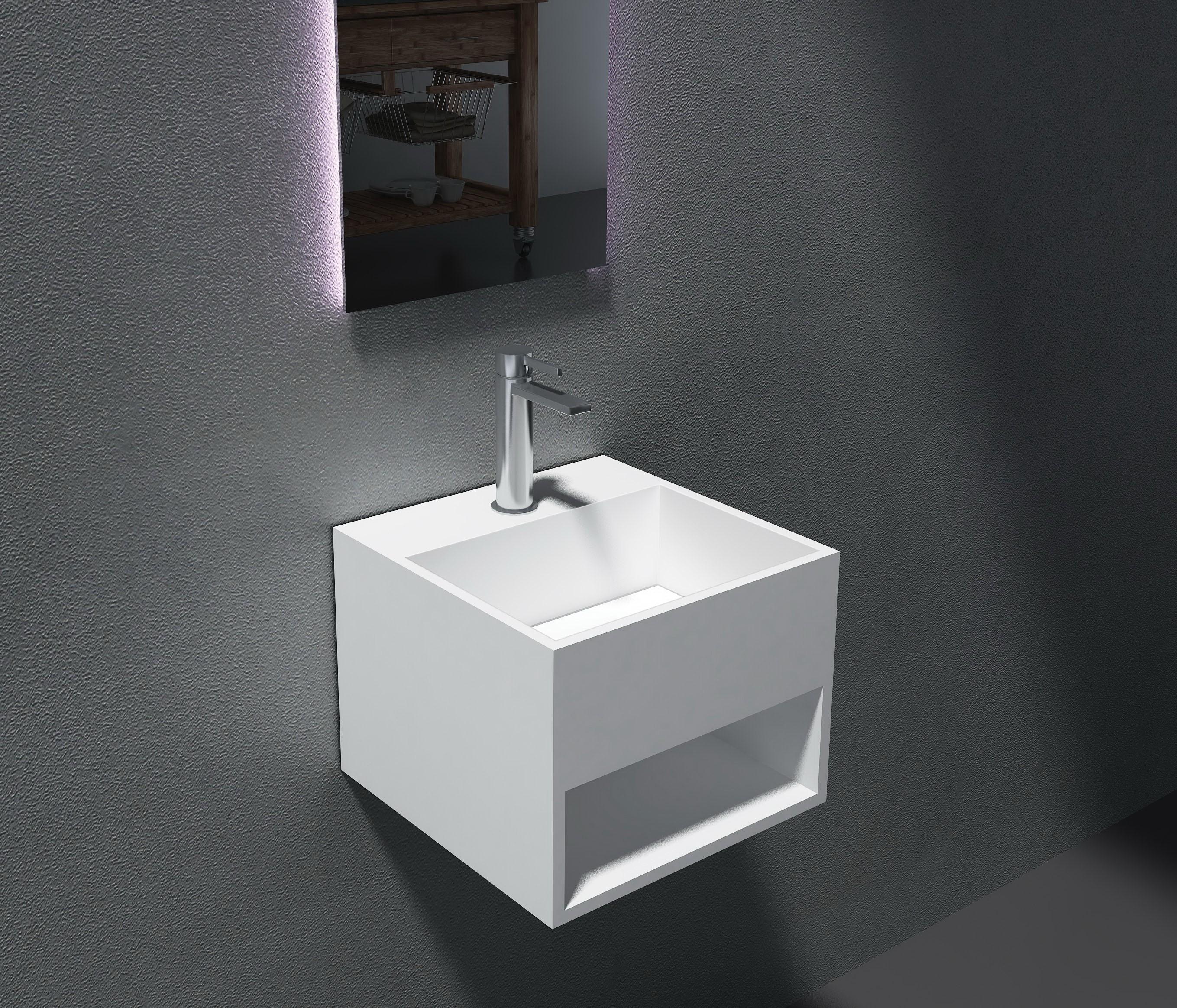 Come Pulire Il Lavabo In Resina lavabo sospeso con spazio accessori pb2035 -32,5 x 32,5 x