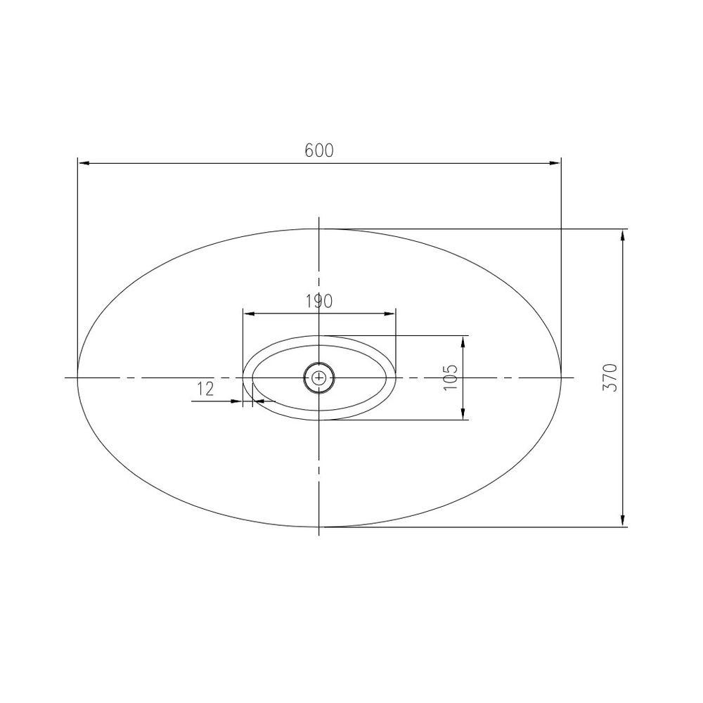 Countertop wash basin WAVE PB2001 - 60x37x21cm - Pure Acrylic -White matte or glossy – Bild 5