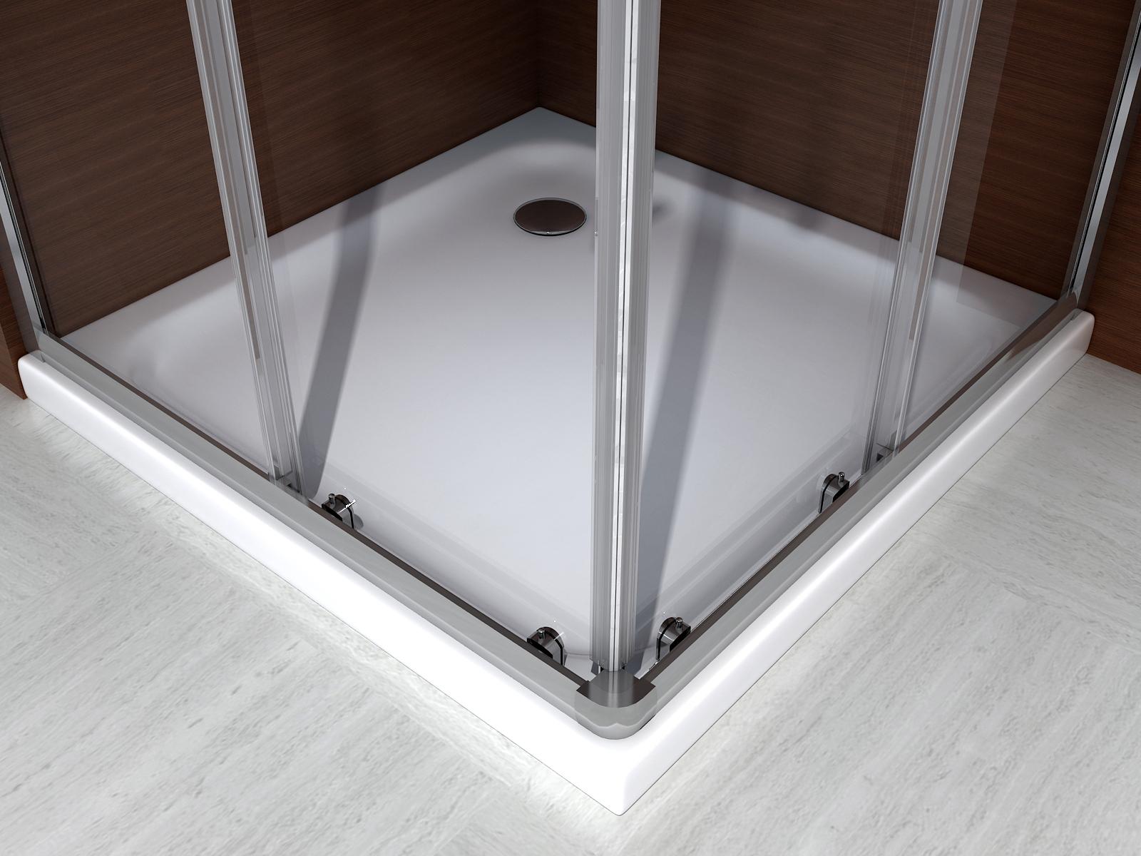 paroi de douche d angle porte coulissante en verre. Black Bedroom Furniture Sets. Home Design Ideas