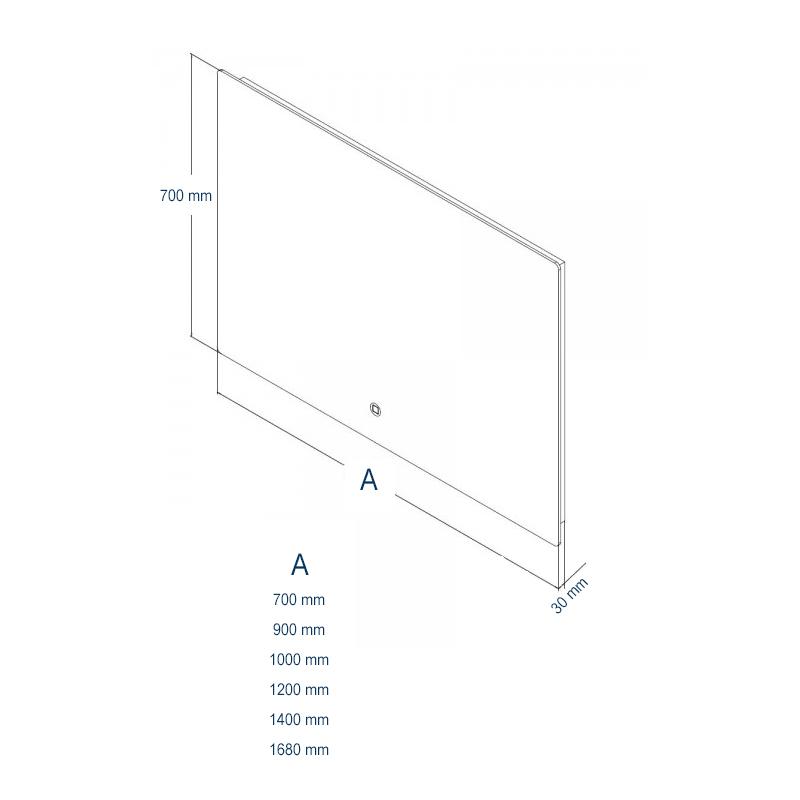 LED Lichtspiegel Badspiegel 2137 - Breite wählbar – Bild 6
