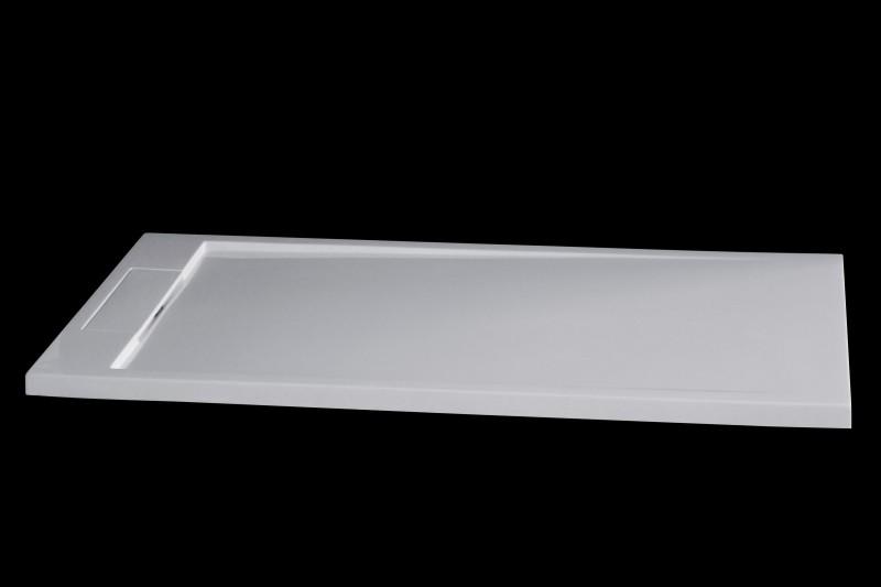 Mineralguss Duschtasse rechteckig M2480CW - Weiß glänzend - 140x80x3,5cm – Bild 2